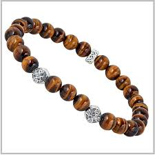 bead bracelet with cross images Men 39 s celtic tigers eye bracelet beaded bracelet men 39 s celtic jpg