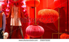 New Year Window Decoration by Fashion Boutiqueoutlet Windows Display Mannequin Chinese Stock