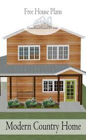 free house plan modern country home grandmas house diy
