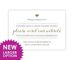 enclosure cards wedding registry cards enclosure cards wedding website cards or