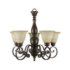 hampton bay reims 5 light berre walnut chandelier 17265 the home