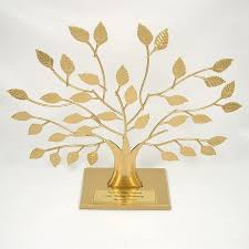 50th anniversary plates you can engrave gold personalized family tree stand 50th anniversary gift