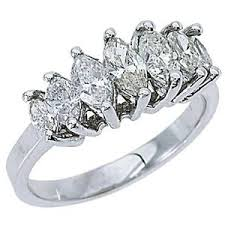 marquise cut diamond ring 1 28 carat womens marquise cut 7 diamond ring wedding band