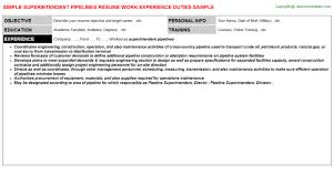 Construction Foreman Resume Examples by Pipeline Foreman Resumes Samples