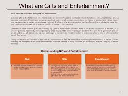 gifts and entertainment a toolkit for managers ppt