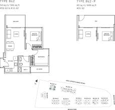 the glades condo floor plan u2013 2br convertible u2013 bs2 u2013 54 sqm 581