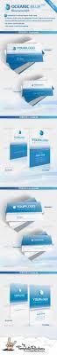 cardview net business card visit design inspiration oceanic blue