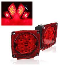 led brake lights for trucks amazon com audew pair square tail brake lights kit water resistant