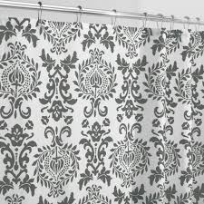 damask shower curtain damask shower curtain house on hold charcoal white damask shower curtain in polyester fabric