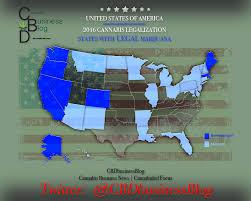 Medical Marijuana Legal States Map by Cannabidiol And Marijuana News And Views Cbdbusinessblog On