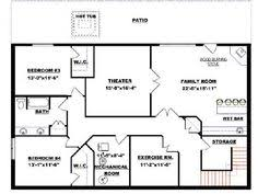 basement home floor plans house plans with finished walkout basement