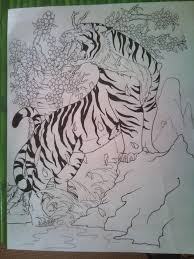 tiger and cherry blossom by tonywave33 on deviantart
