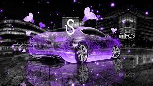 bentley purple bentley continental gt crystal fantasy flowers car 2013 el tony