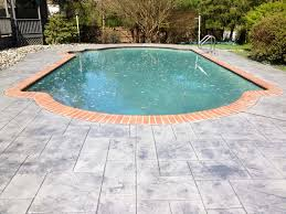 concrete pool deck chadds ford difelice stamped concrete