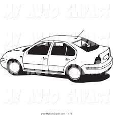 volkswagen jetta white clip art of a black and white volkswagen jetta car driving left by