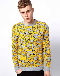 banana sweater lyst asos asos banana sweater in yellow for