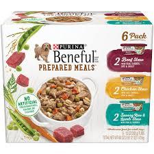 purina beneful prepared meals stew variety pack wet dog food 6