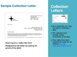 debt collection letter what do i do