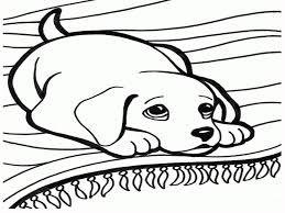 printable puppy coloring pages free cute dog lyss