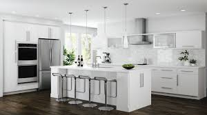 home depot custom kitchen cabinets cost edgeley base cabinets in white kitchen the home depot