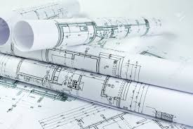architect plans architect rolls and house plans stock photo picture and royalty