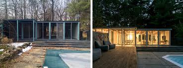 two bedroom home before and after a mid century modern pool house converted into a