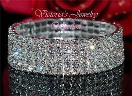 crystal bracelet swarovski images 5 row swarovski crystal fashion wedding bridal prom bracelet 2b5 jpg