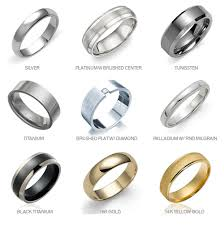 types of mens wedding bands wedding ring materials imposing design mens wedding ring materials