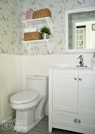 Powder Room Makeovers Photos - a powder room makeover with diy wallpaper and board u0026 batten the