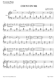Count On Me Bruno Mars Piano Pdf 48 Best Piano Sheets Images On Pianos And Piano