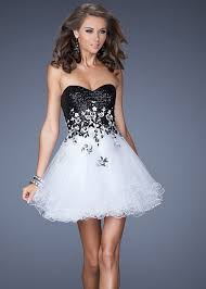 black and white dresses and white dress for prom