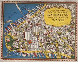 Map Manhattan This Is A Section Of A Map Of The Wondrous Isle Of Manhattan