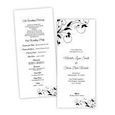tea length wedding program program tea length a j s prints