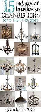 Farmhouse Dining Room Lighting 15 Industrial Farmhouse Chandeliers For A Tight Budget Bless Er