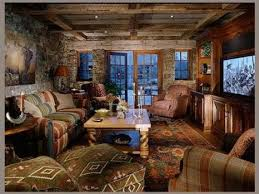western decor ideas for living room log home with barn wood and
