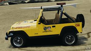 beach jeep jeep wrangler 1988 beach patrol v1 1 els for gta 4