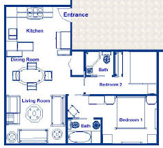 dining room floor plans liner luxury resorts 540 sq ft resort residence with two