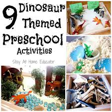 nine dinosaur themed preschool activities preschool activities