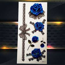 online get cheap blue rose tattoo designs aliexpress com