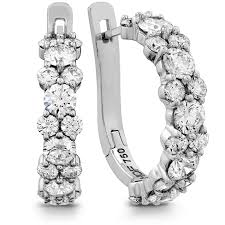 diamond earrings gracious diamond hoop earrings