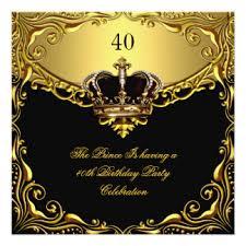 king royal black gold birthday invitations u0026 announcements zazzle