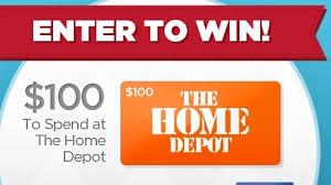 win a gift card enter to win 100 home depot gift card