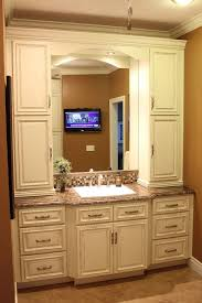 Double Vanity Cabinets Bathroom by Impressive Bathroom Vanity And Linen Cabinet Elegant Bow Front
