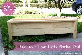Wooden Planter Box Plans Free by Fabulously Vintage Pinterest Challenge Diy Herb Planter Box
