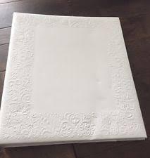 embossed photo album hallmark wedding keepsake album ivory bells embossed paper pages