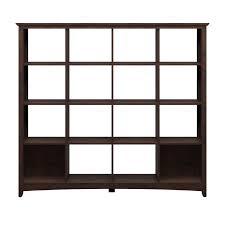 shelf room divider bush furniture buena vista 16 cube bookcase room divider by oj