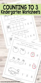 counting to 3 worksheets kindergarten worksheets easy peasy
