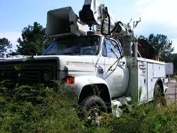 gmc c30 auger digger bucket crane sign truck