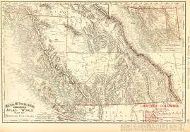 Map Of British Columbia Canada by British Columbia Canada Map 1895 Original Art Antique Maps