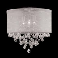 Chandelier With White Shade Great Flush Light Shade 3 Light Black Metal White Shade Designer